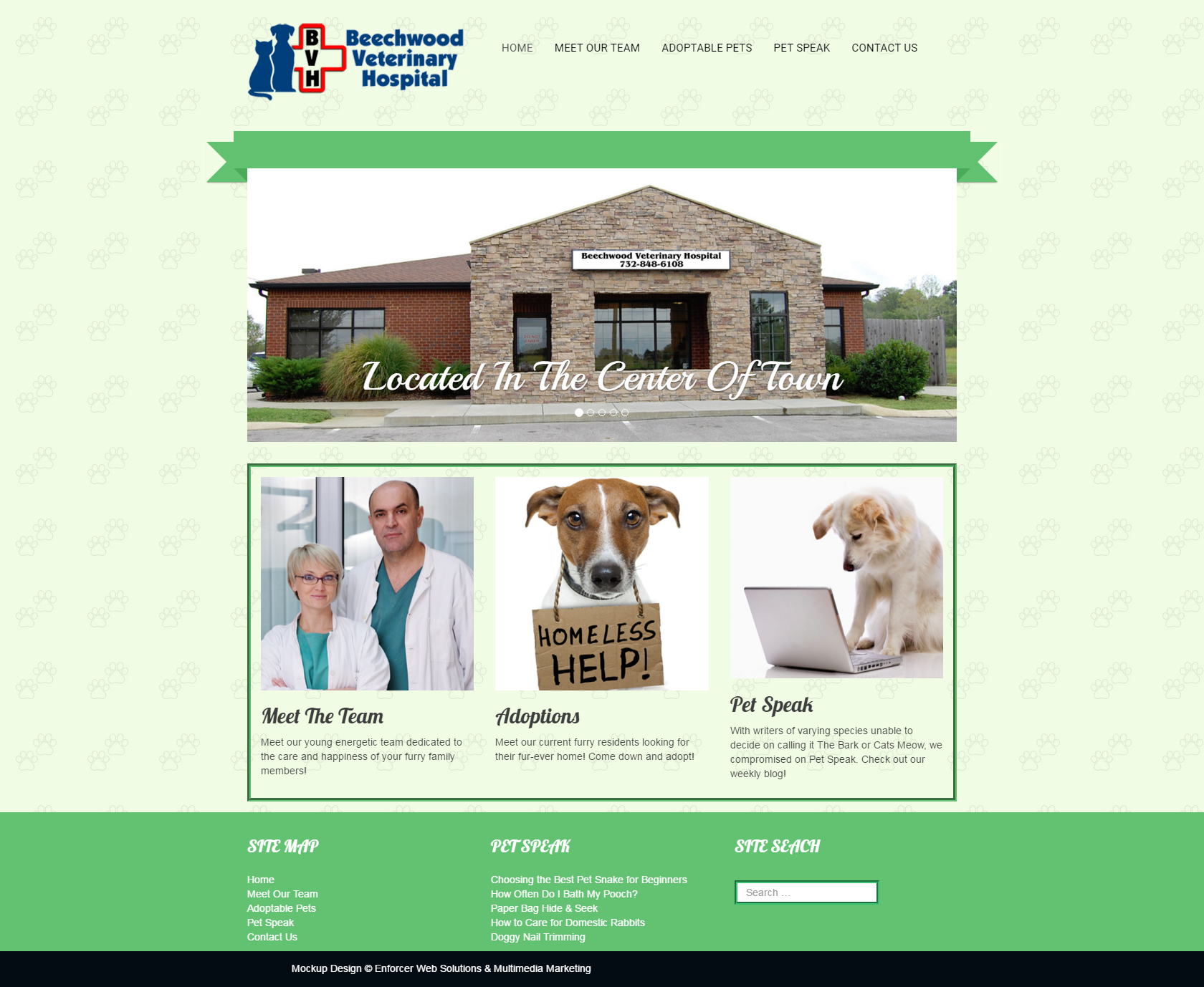 Beechwood Veterinary Home: Desktop View