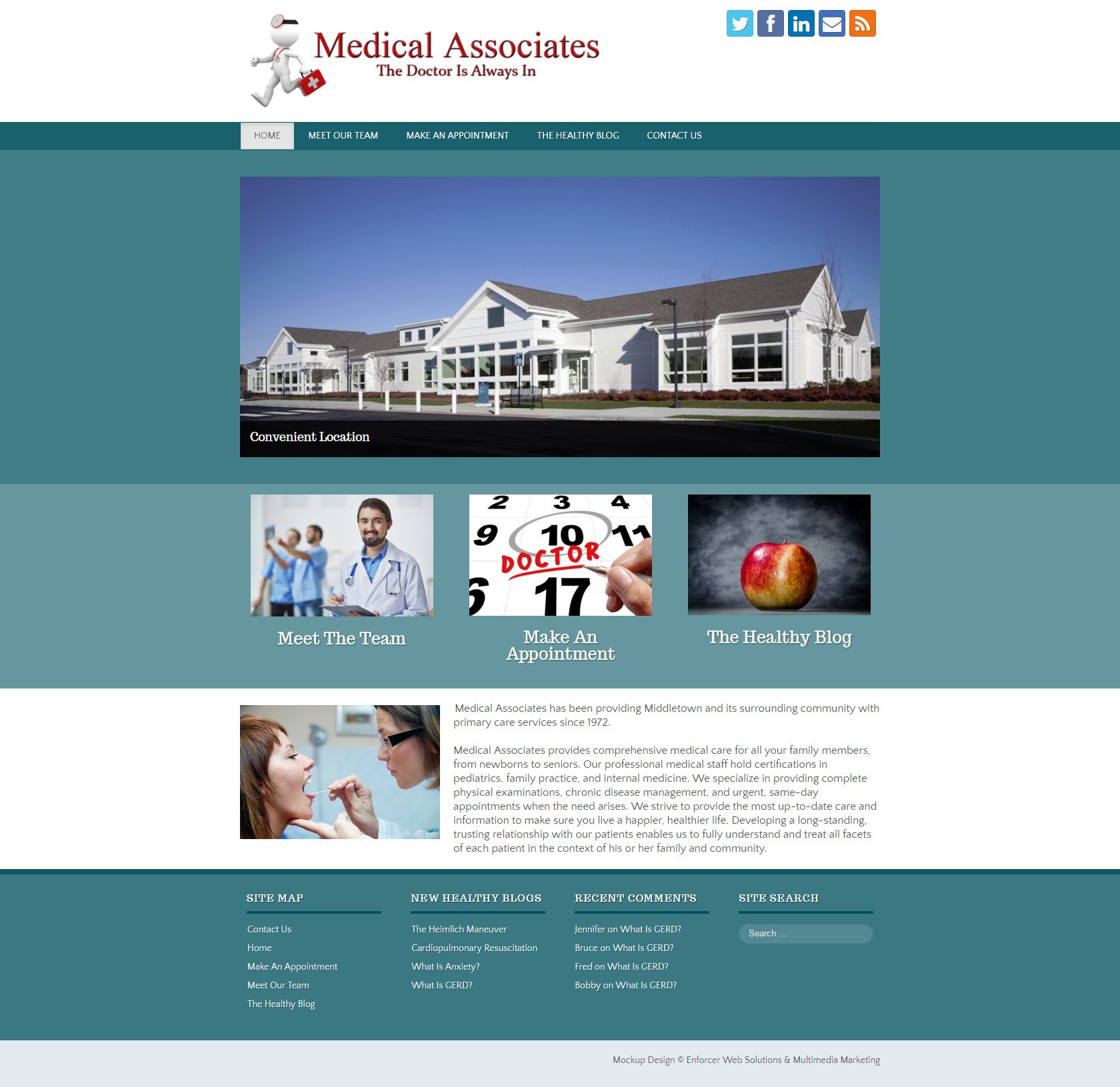 Medical Associates: Desktop View
