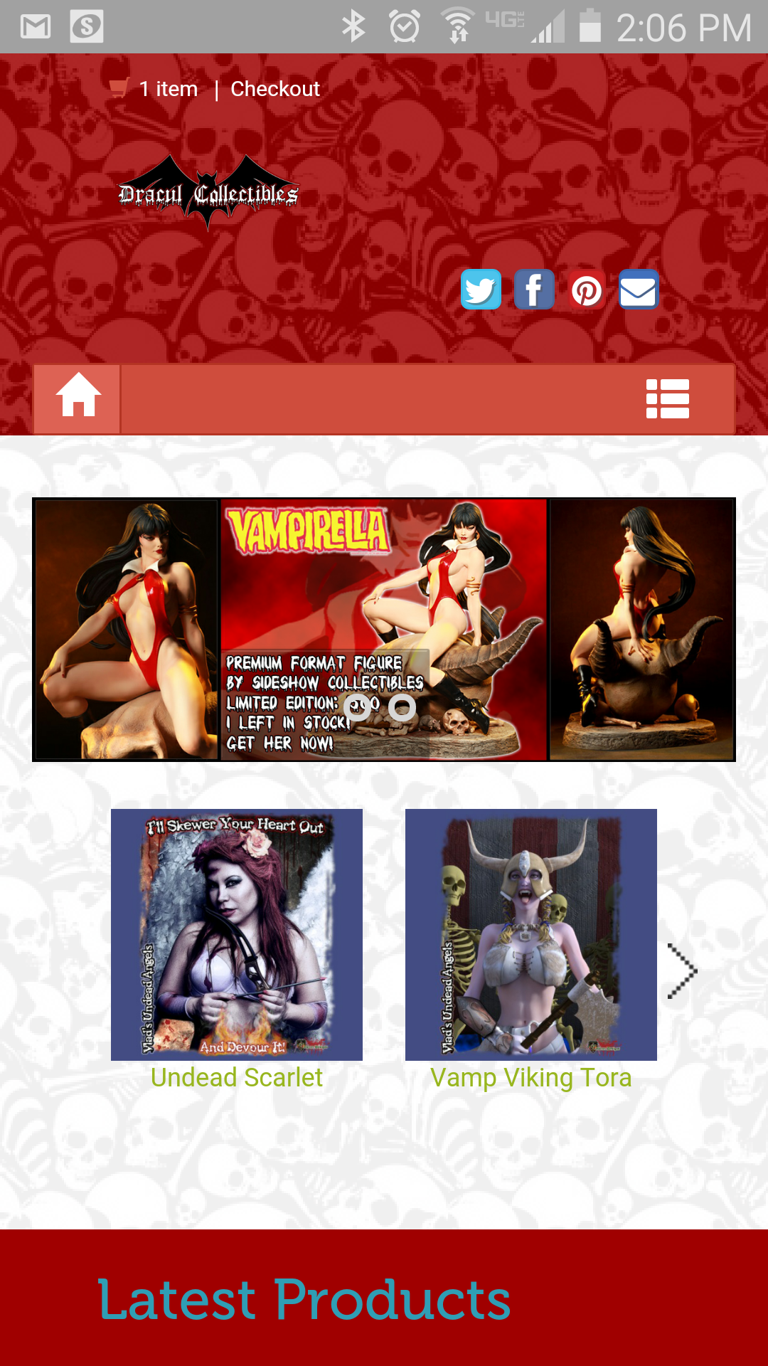 Dracul Collectibles Online Comic Shop: Mobile View