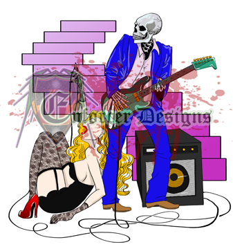 Skeletal Guitarlist Bald