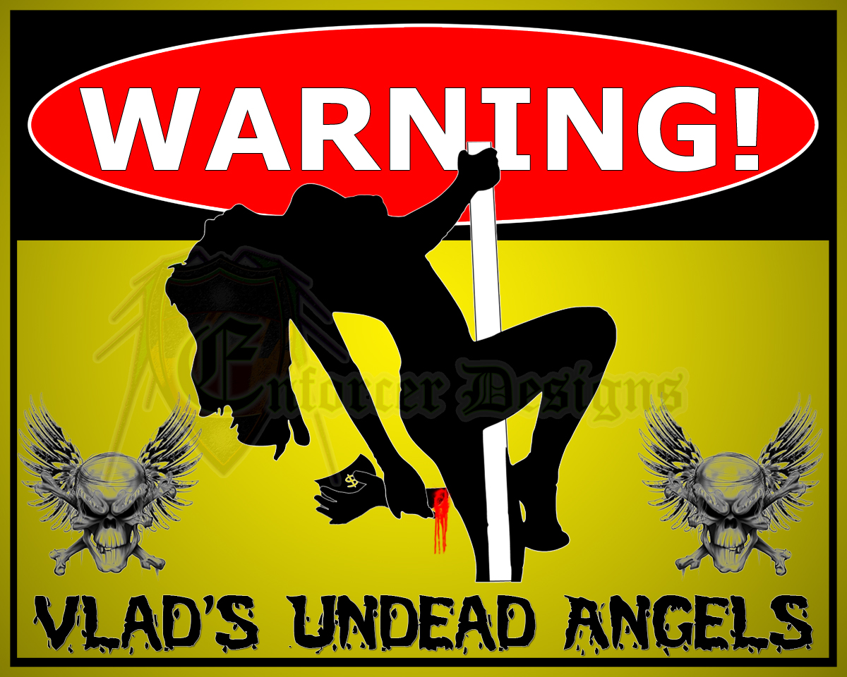 Vlad's Undead Angels Street Sign / Calendar Cover